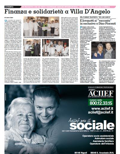 Finanza e solidarietà a Villa D'Angelo (di Laura Caico, Roma)