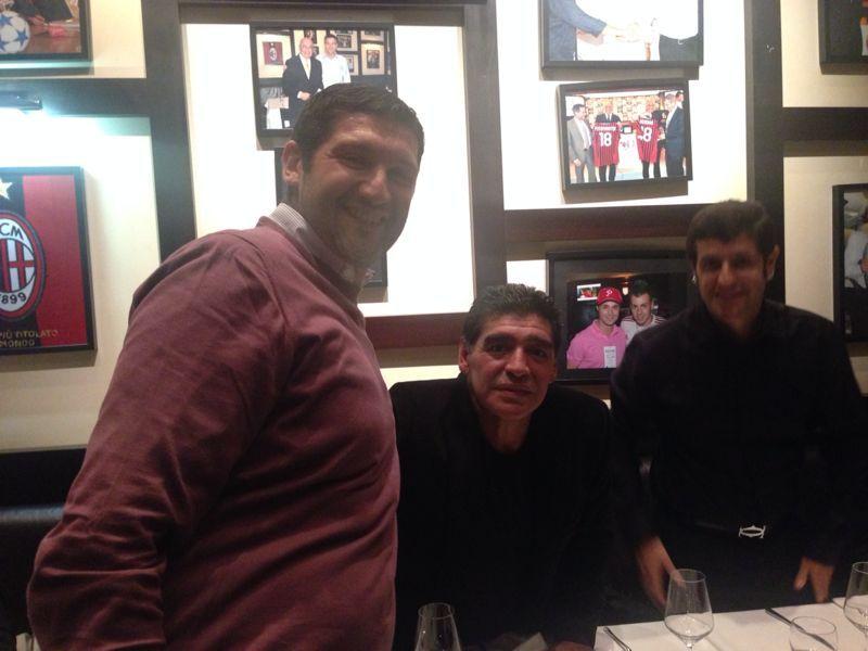 L'incontro con Diego Armando Maradona