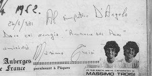 La dedica di Massimo Troisi